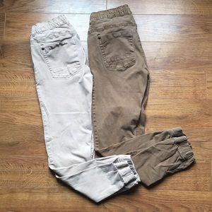 Men's Size 30 Joggers Tan & Brown pants